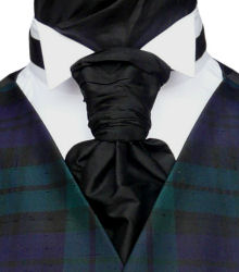 Featured Neckwear - Black Silk Pre-Tied Scrunchie