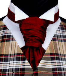 Featured Neckwear - Black Red Silk Pre-Tied Scrunchie Tie