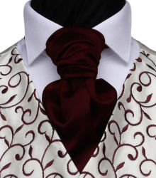 Featured Neckwear - Dark Wine Ready-Tied Scrunchie