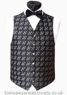 Black and Grey Squares Waistcoat