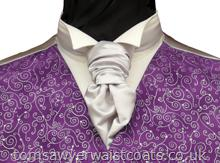 Order the featured neckwear here or, to choose a different style, select a neckwear category from the menu. Our picture shows the following:- Style- Pre-Tied Scrunchie- Colour- Silver- Fabric- Satin- Save 15% when you order 6 or more men's scrunchie ties in the same colour & fabric!