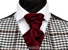 Featured Neckwear - Dark Wine Satin Self Tie Scrunchie