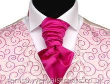 Featured Neckwear - Cerise Satin Pre Tied Scrunchie
