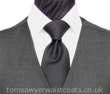 Featured Neckwear - Black Matt Satin Necktie