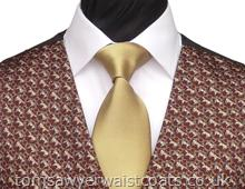 Featured Neckwear - Beige Satin Necktie