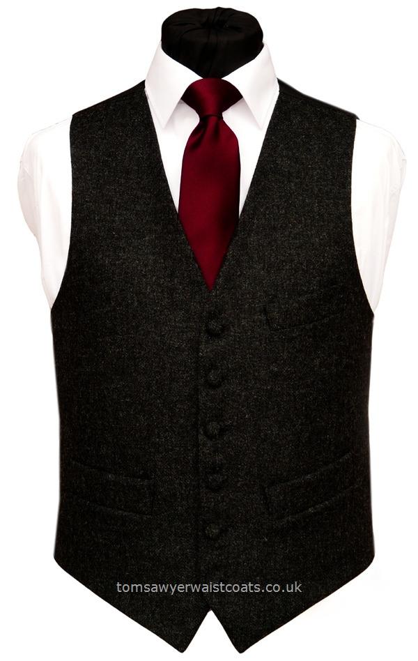 Charcoal Grey Tweed Waistcoat Traditional Waistcoats