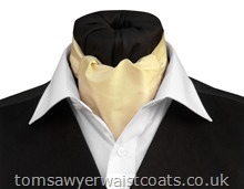 Saffron Silk Day Cravat (Self-tie)