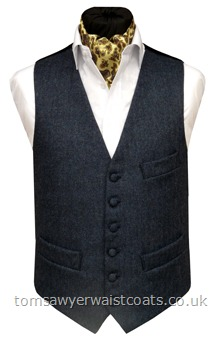 This petrol blue tweed waistcoat has a subtle herringbone weave and is made from 100% pure new wool, woven in the UK. This waistcost is available in an extra long length and in plus sizes. Waistcoat Style- TS342- Fabric- 16oz wool tweed- Colour- Petrol Blue- Buttons- Fabric covered- Back & Lining- Navy Polyester Twill- You can click here to view our waistcoat size chart.