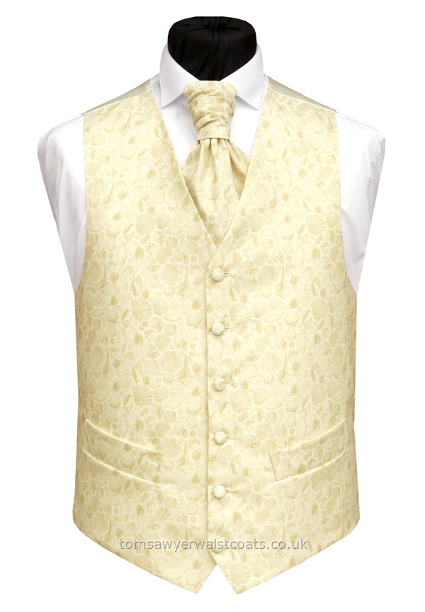 Cream/Natural Shell Waistcoat
