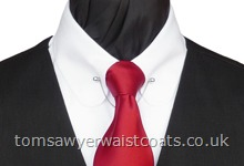 Featured Neckwear - Wine Satin Necktie