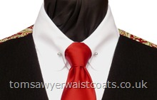 "Traditional Waistcoats : ""The Totnes Collection"" waistcoats : Featured Neckwear - Wine Satin Necktie"