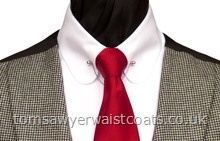 Traditional Waistcoats : Double Breasted Waistcoats : Featured Neckwear - Wine Satin Necktie