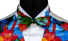 Bright Tropical Parrots Pre-tied Bowtie