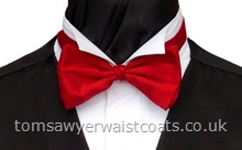 Order a matching bow tie in Tartan Red silk to match our poppies waistcoat here or, to choose a different style, select a neckwear category from the menu. Our picture shows the following:- Style- Pre-Tied Bowtie- Colour- Tartan Red- Fabric- Silk Dupion- - Please Note: Silk dupion is a natural fibre and there may be irregularities in the weave. This is part of the character of the fabric.
