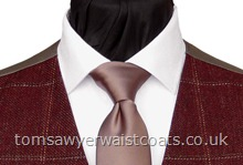 Order the featured neckwear here. Our picture shows the following:- Style- Necktie (Men's)- Colour- Mid Brown (F28)- Fabric- Satin-