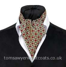 'Vermont'  Russet Geometric Cotton Day Cravat     (Self-tie)