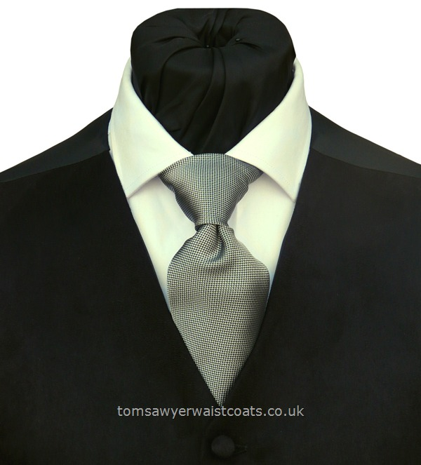 Neckwear : Neckties (Self-tie) : Mayfair Silver Grey Traditional Necktie