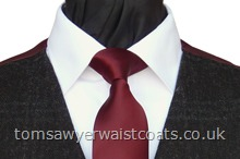 Order the featured neckwear. Our picture shows the following:- Style- Necktie- Colour- Burgundy (F4)- Fabric- Polyester Satin- Save 15% when you order 6 or more of this item! (men's size only)