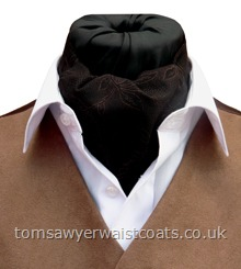 Brown and Black Patterned Day Cravat