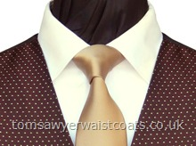 Featured Neckwear - Gold Satin Necktie