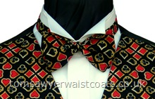 'Hearts, Diamonds, Clubs & Spades' Pre-Tied Bow Tie