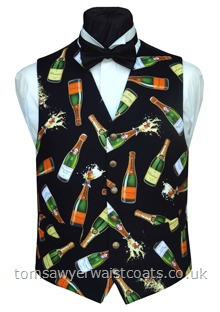 Champagne Celebration Waistcoat 38 Chest