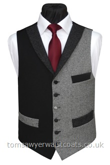The Rippon Tor Totnes Collection Black & Dogtooth Waistcoat
