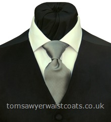 Mayfair Silver Grey Traditional Necktie