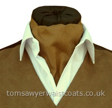 Ruston Sandy Brown Cotton Papworth Pre-tied Day Cravat