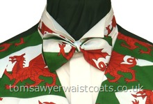 Welsh Dragon Flag Pre-Tied Bow Tie