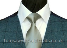 Order the featured neckwear here. Our picture shows the following:- Style- Necktie- Colour- Silver Grey (F7)- Fabric- Satin- Save 15% when you order 6 or more of this item! (men's size only)