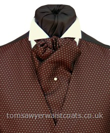 Camberwell Dark Burgundy Self Tie Cravat with matching hankie