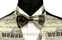 Silver Classical Music Pre-Tied Bowtie