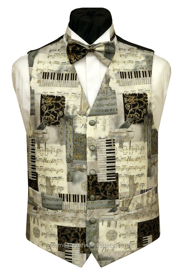 Silver Classical Music Waistcoat