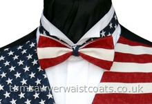 Stars n Stripes American Flag Pre-tied Bowtie