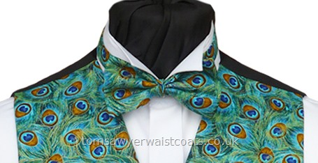 Peacock  Tail Feathers Pre-Tied Bowtie