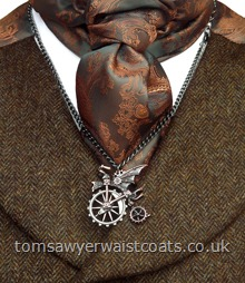 Venus Traction Farthing Steampunk Chain Necklace