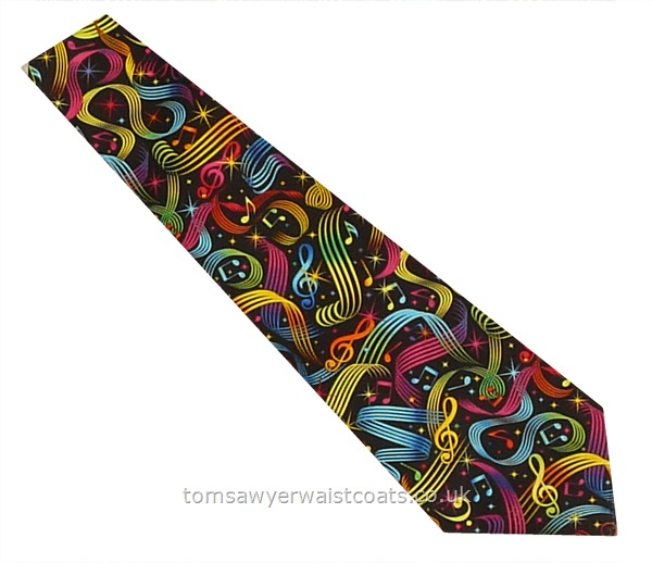 Neckwear : Neckties (Self-tie) : Happy Music Cotton Necktie