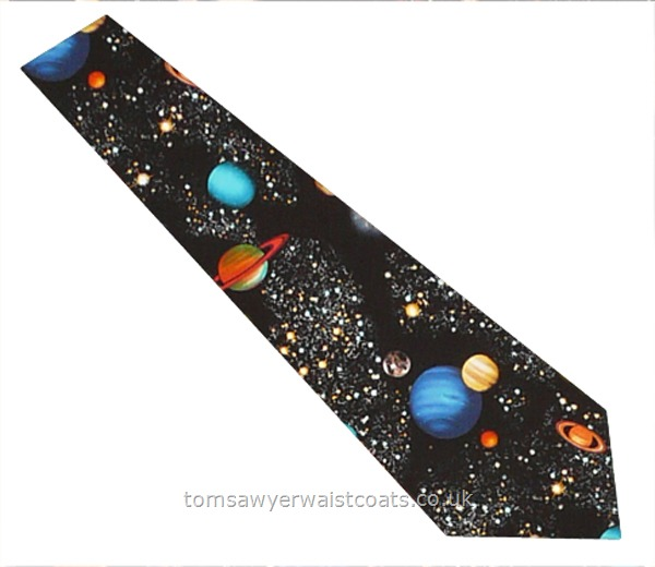 Neckwear : Neckties (Self-tie) : Astronomy Cotton Necktie