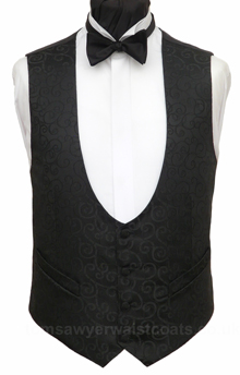 Black Bow Fronted Rumours Waistcoat