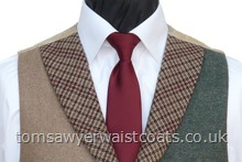 Featured Neckwear- Burgundy Satin Tie