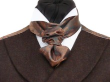 Featured Neckwear - D'Arcy Scarf-Cravat in Copper & Pewter Paisley