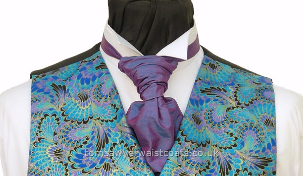 Neckwear Suggestion- Violet Shimmer Ready tied Scrunchy Tie