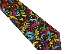 Happy Music Cotton Necktie