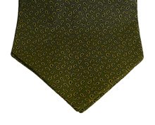 Princeton Green Paisley Cotton Day Cravat (Self-tie)