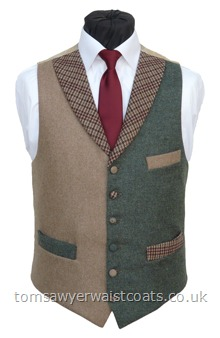 Haytor 2. Highland Green & Camel Totnes  Collection Waistcoat.