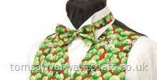 Christmas : Festive Waistcoats : Festive Sprouts Christmas Ready-tied Bow Tie