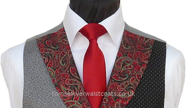 "Traditional Waistcoats : ""The Totnes Collection"" waistcoats : Featured Neckwear -  Scarlet Red Satin Necktie"