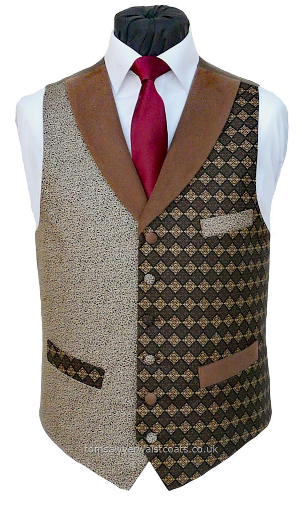 "Traditional Waistcoats : ""The Totnes Collection"" waistcoats : ""The Shelstone Tor"" Totnes Collection Waistcoat"