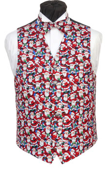 Small and tightly crowded Farther Christmas pattern with sparkling scattered glitter. Waistcoat Style- TS540- Front Fabric- Cotton- Colour- Red, White & Royal Blue- Buttons- Silver Patterned- - Back & Lining- Black polyester- Please note; Some of the glitter on this waistcoat will inevitably be lost with handling and wear. - You can click here to view our waistcoat size chart. Featured shirt White Wing Collar Shirt-